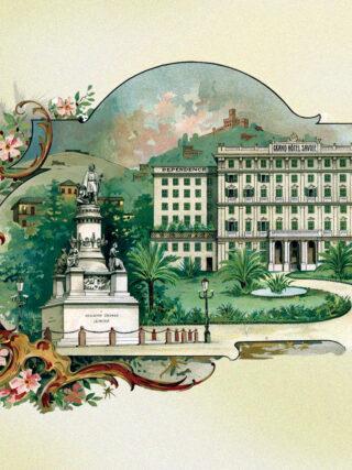 Grand Hotel Savoia cartolina del 1897